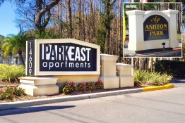 ParkEast Apartments Monument with Address Number