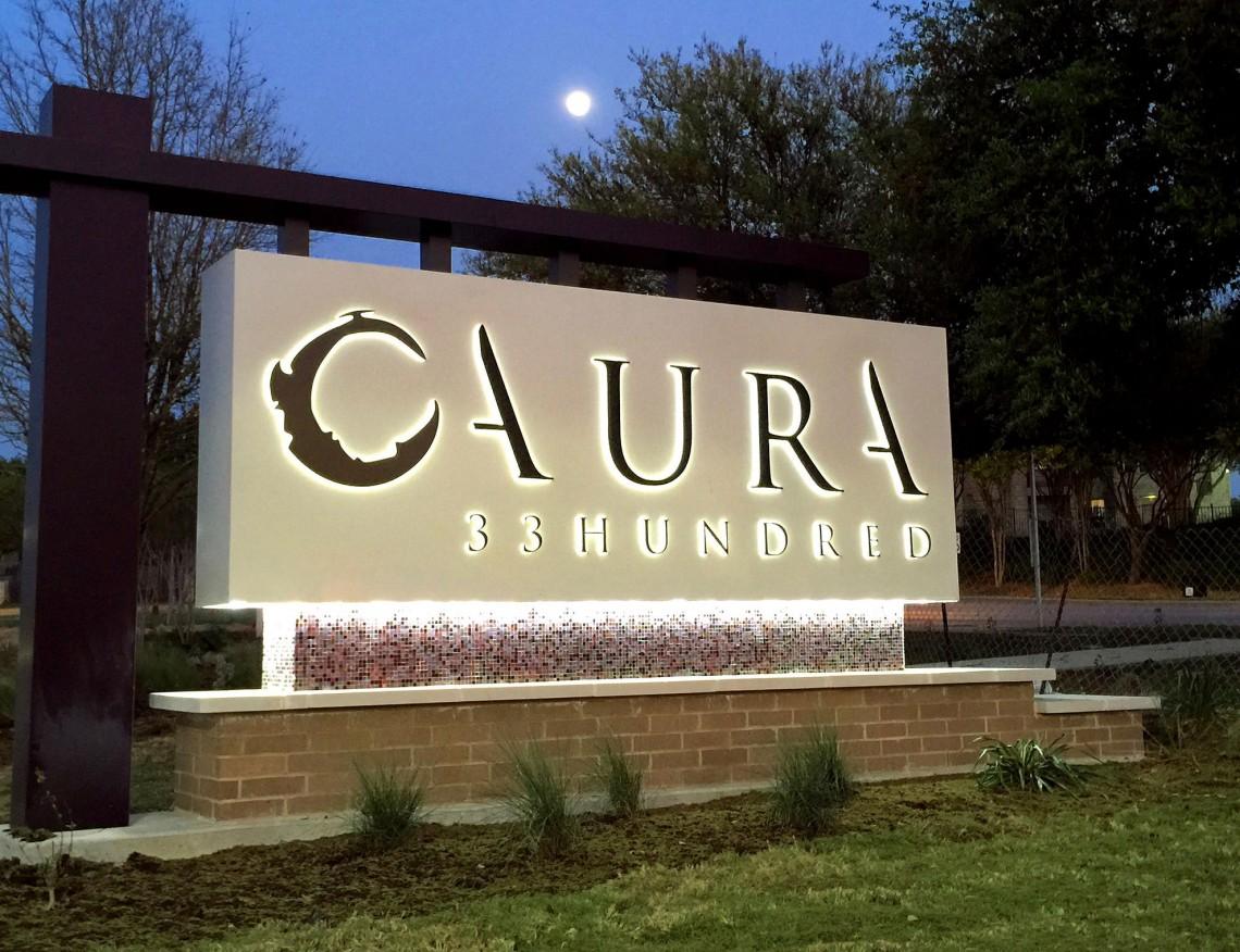 Aura 33Hundred Monument at Night Illuminated