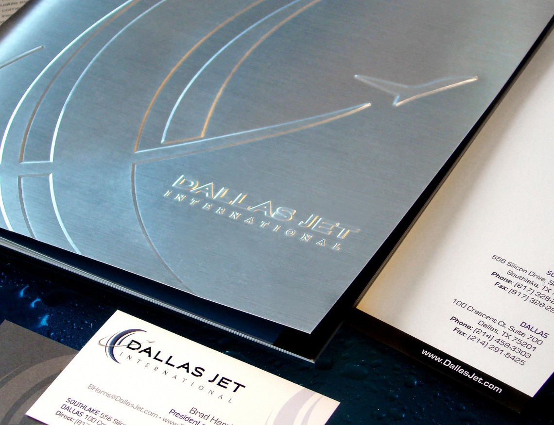 Dallas Jet International Brochure, Business Card and Letterhead