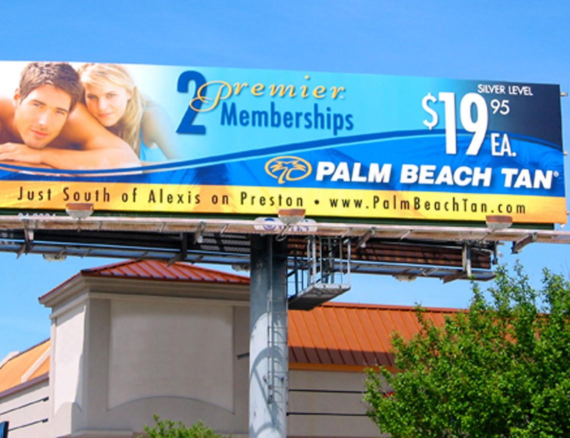 Palm Beach Tan Billboard