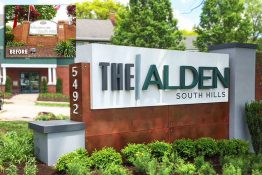 The Alden South Hills Apartments Reposition Property with an Updated Monument Design